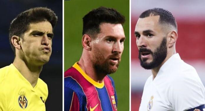 Gerard Moreno, Messi y Benzema