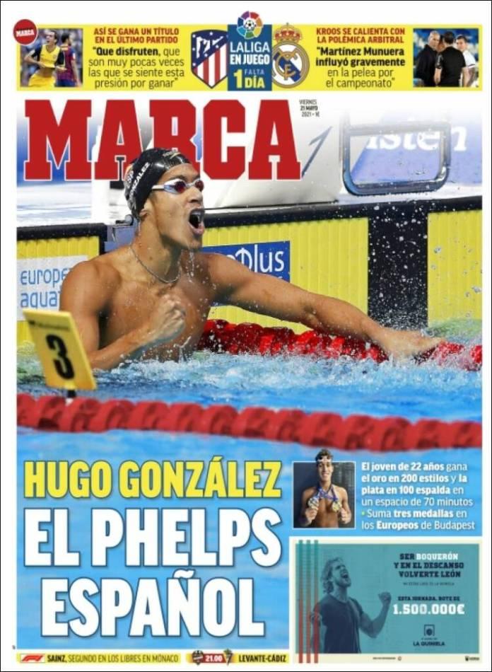 Portadas Diarios Deportivos Viernes 21/5/2021