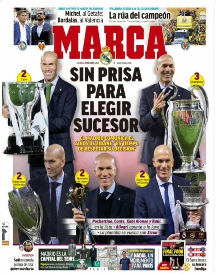 Portadas Diarios Deportivos Viernes 28/5/2021