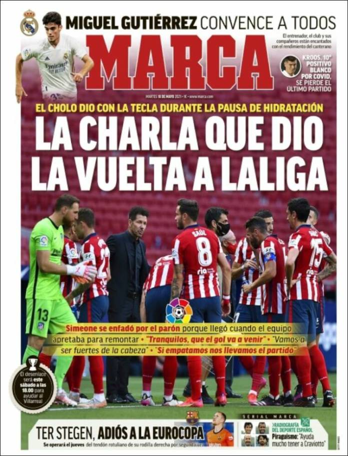 Portadas Diarios Deportivos Martes 18/5/2021