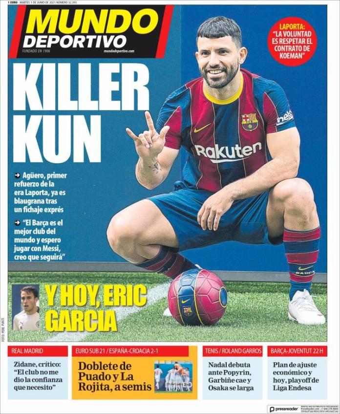 Portadas Diarios Deportivos Martes 1/6/2021