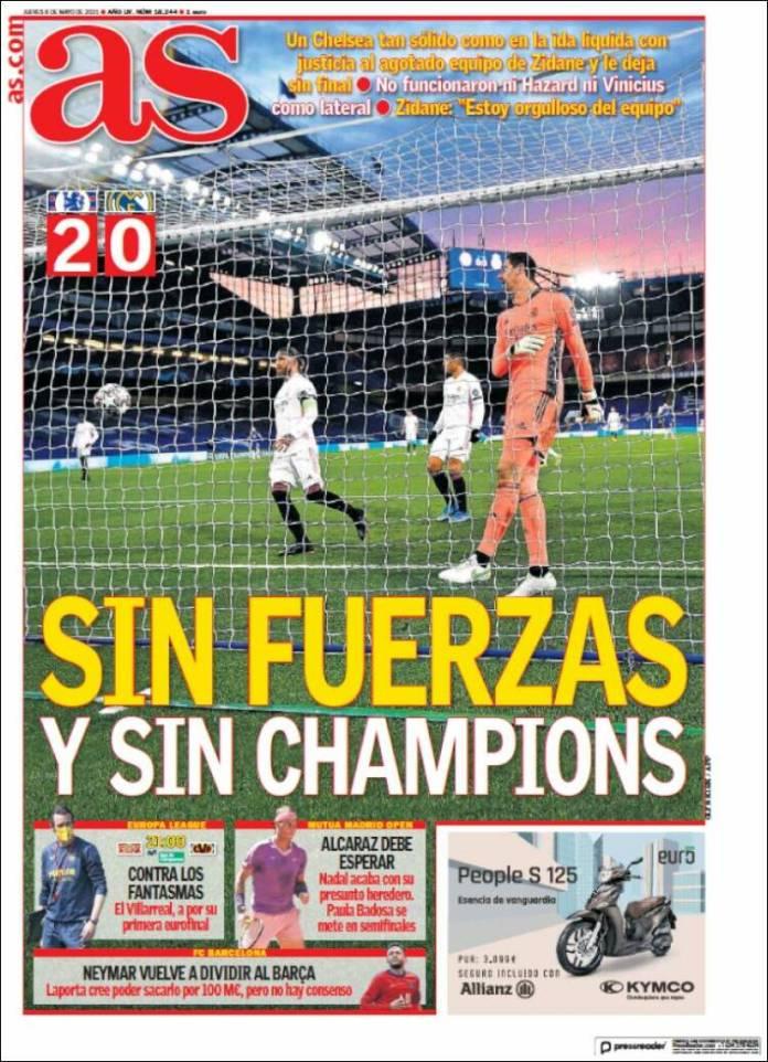 Portadas Diarios Deportivos Jueves 6/5/2021