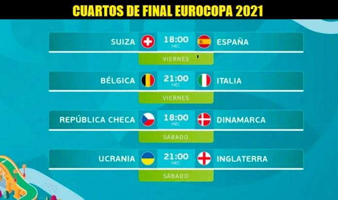 Alineaciones Cuartos Eurocopa 2021