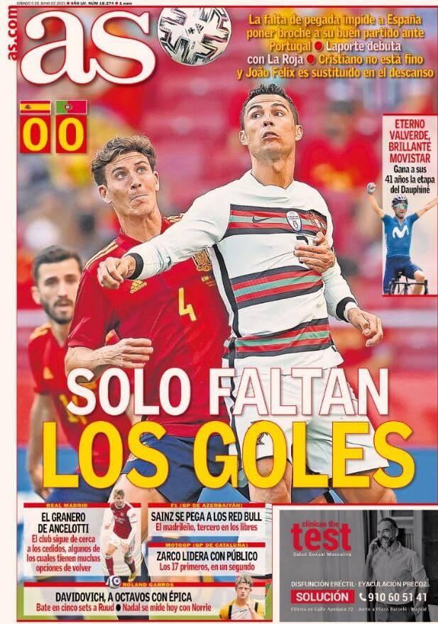 Portadas Diarios Deportivos Sábado 5/6/2021