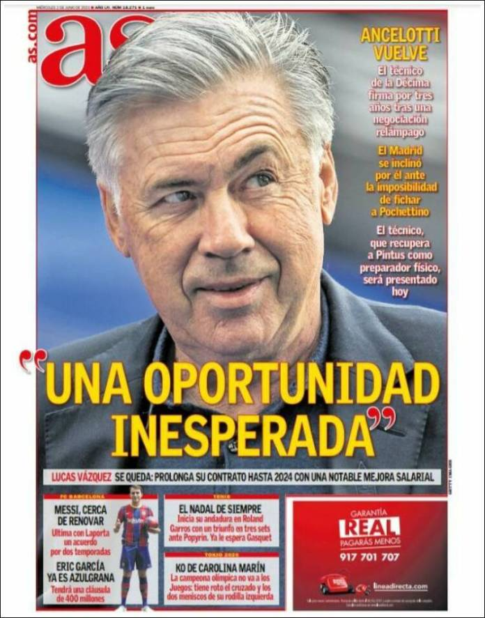 Portadas Diarios Deportivos Miércoles 2/6/2021