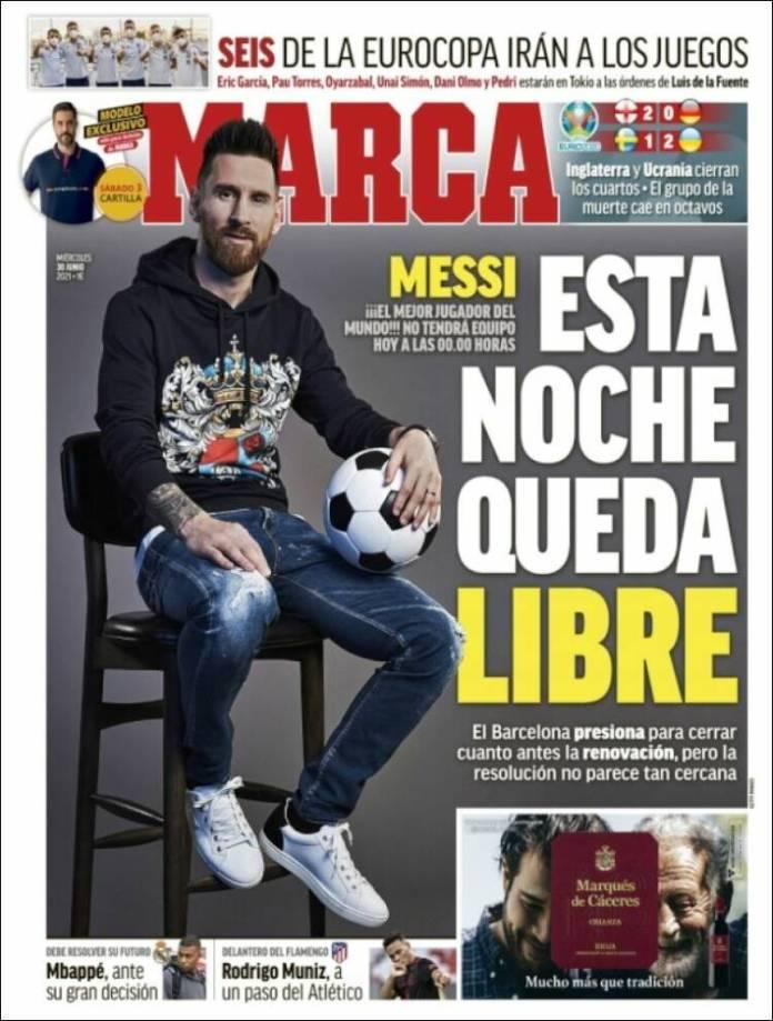 Portadas Diarios Deportivos Miércoles 30/6/2021