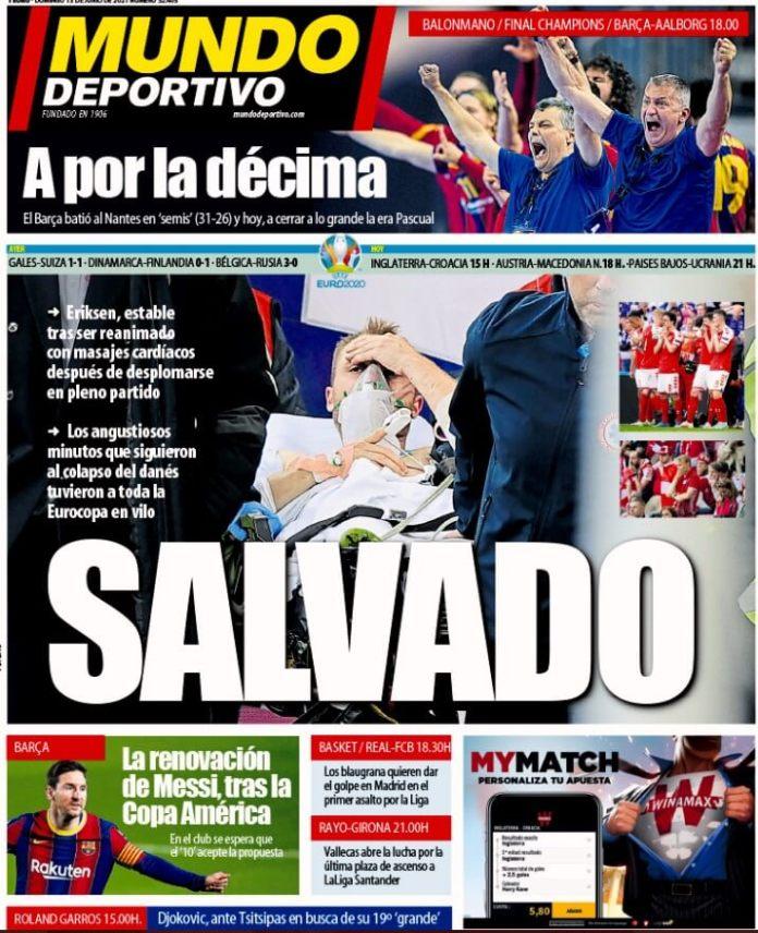 Portadas Diarios Deportivos Domingo 13/6/2021