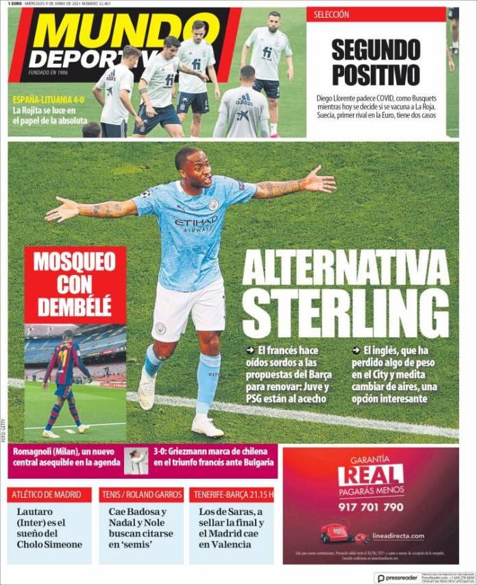 Portadas Diarios Deportivos Miércoles 9/6/2021
