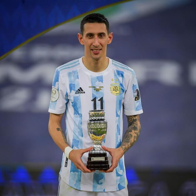 Mejor jugador de la final de la Copa América 2021 Ángel Di María (Argentina)
