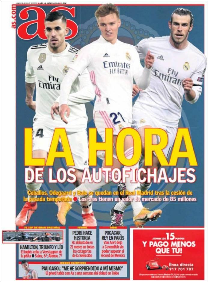 Portadas Diarios Deportivos Lunes 19/7/2021
