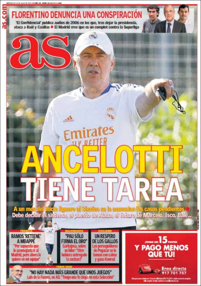 Portadas Diarios Deportivos Miércoles 14/7/2021