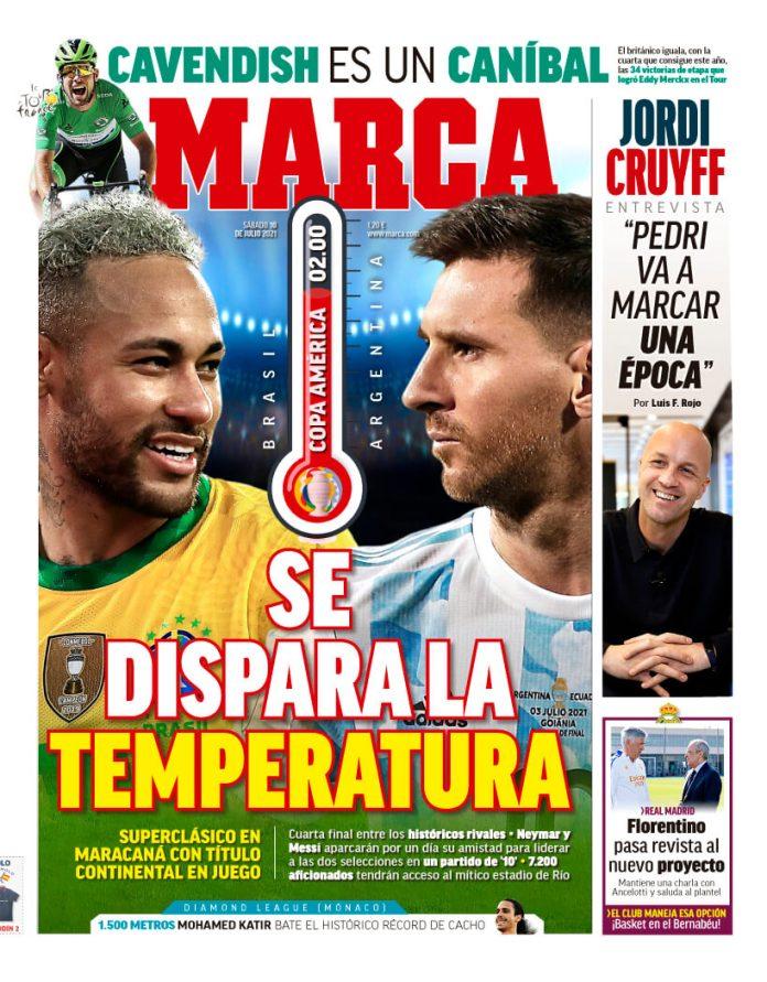 Portadas Diarios Deportivos Jueves 10/7/2021