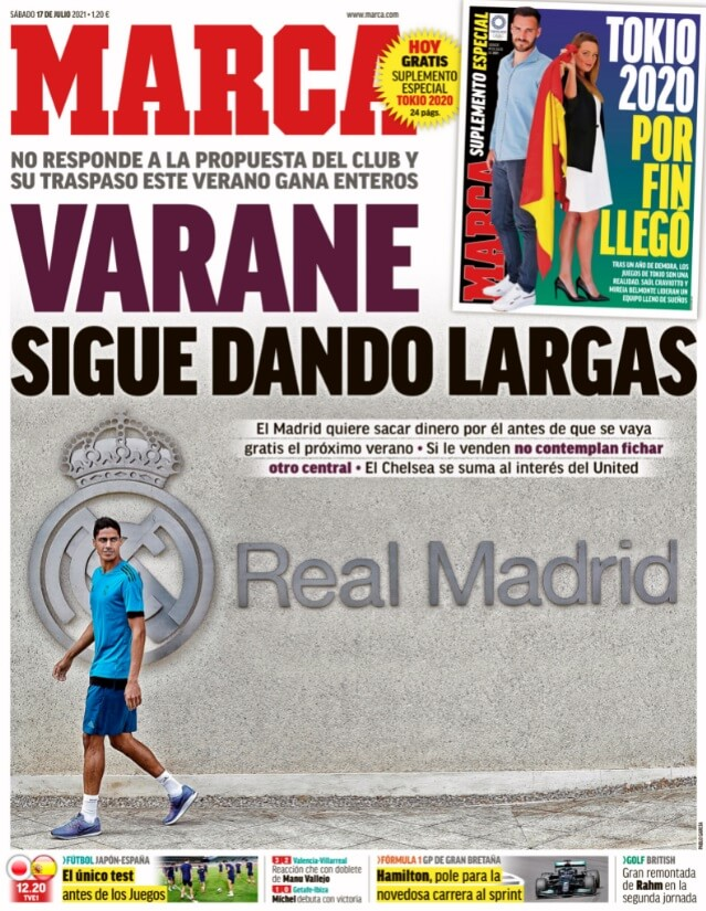 Portadas Diarios Deportivos Sábado 17/7/202