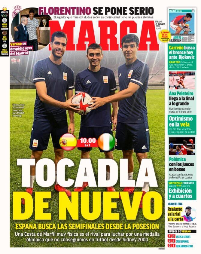 Portadas Diarios Deportivos Sábado 31/7/2021