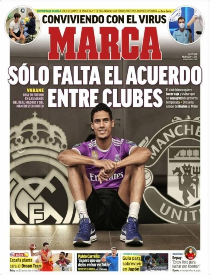 Portadas Diarios Deportivos Martes 20/7/2021