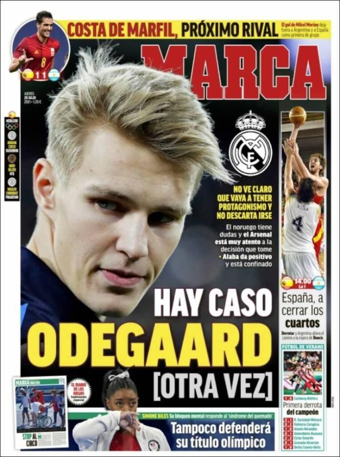 Portadas Diarios Deportivos Jueves 29/7/2021