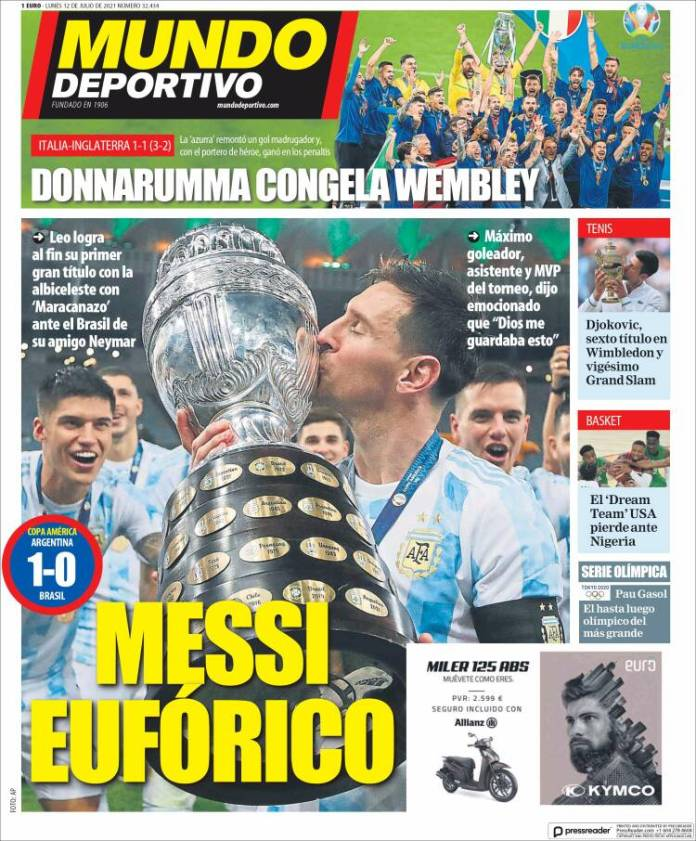 Portadas Diarios Deportivos Lunes 12/7/2021