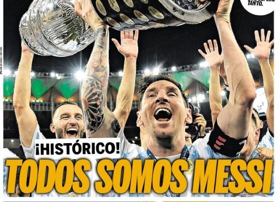 Portadas Diarios Deportivos Domingo 11/7/2021