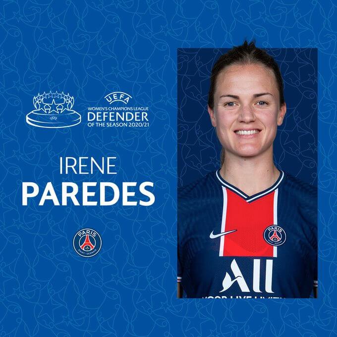 Irene Paredes (PSG) Mejor Defensora 2020-2021