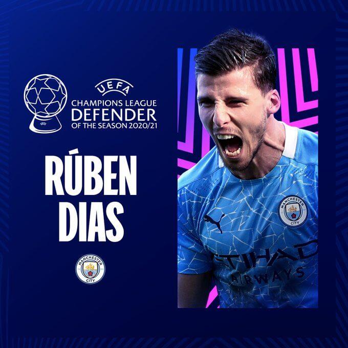 Rúben Dias (M. City) Mejor Defensor 2020-2021