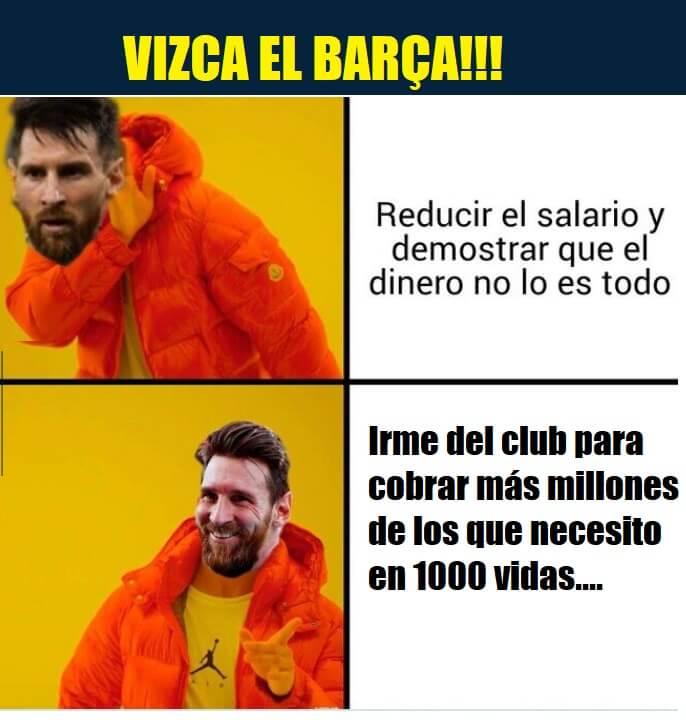memes messi se va del barcelona