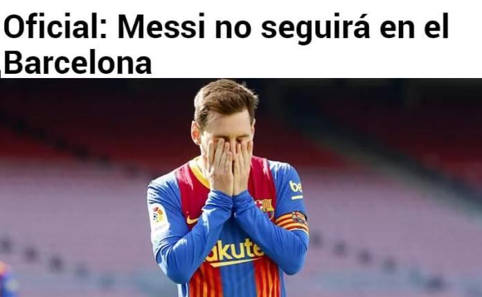 Messi No Seguirá en el Barcelona   Comunicado Oficial