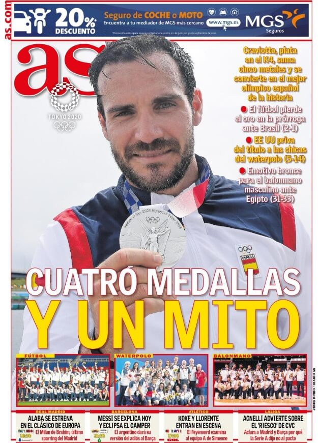 Portadas Diarios Deportivos Domingo 8/8/2021