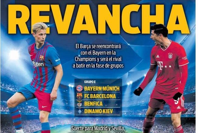 Portadas Diarios Deportivos Viernes 27/8/2021