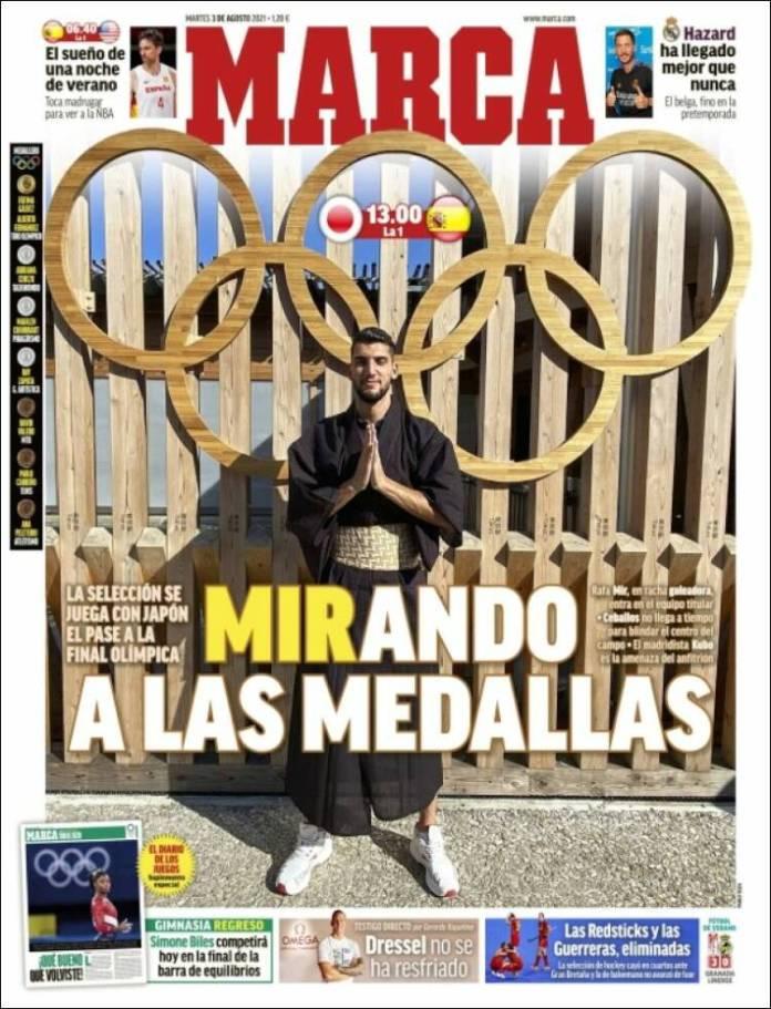 Portadas Diarios Deportivos Martes 3/8/2021