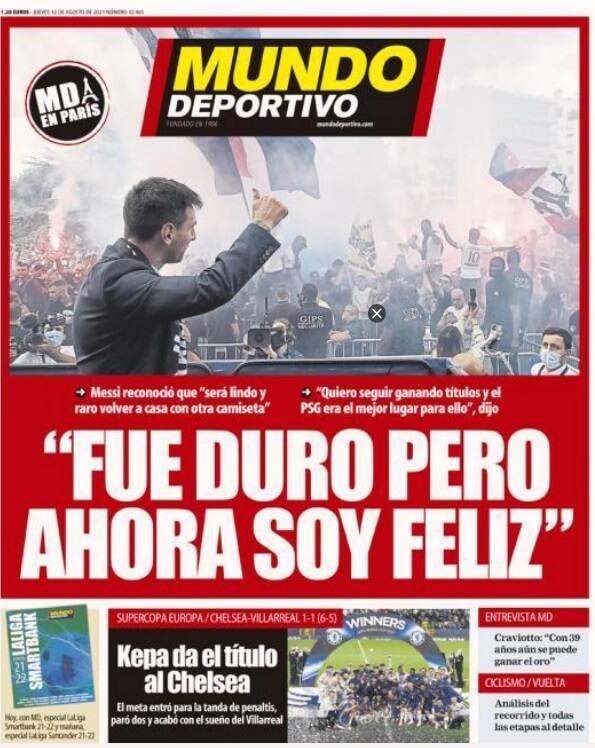 Portadas Diarios Deportivos Jueves 12/8/2021