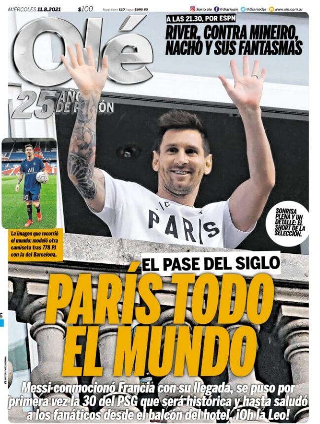 Portadas Diarios Deportivos Miércoles 11/8/2021