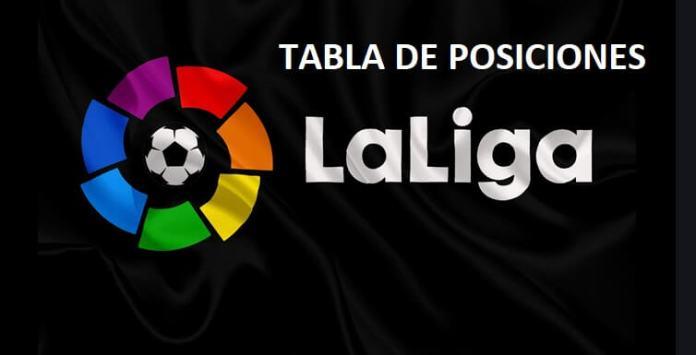 tabla de posiciones liga española