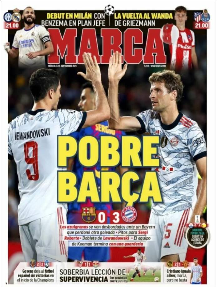 Portadas Deportivas de España 15/9/2021
