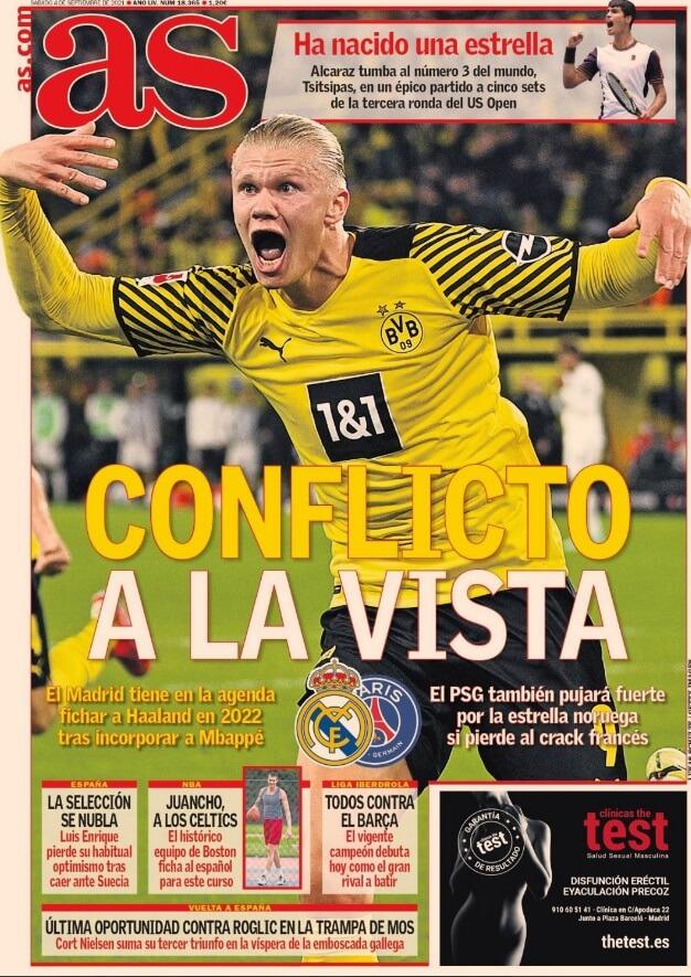 Portadas Deportivas de España 4/9/2021