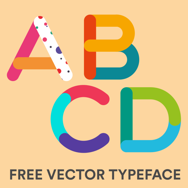 Tricolore Vector Typeface