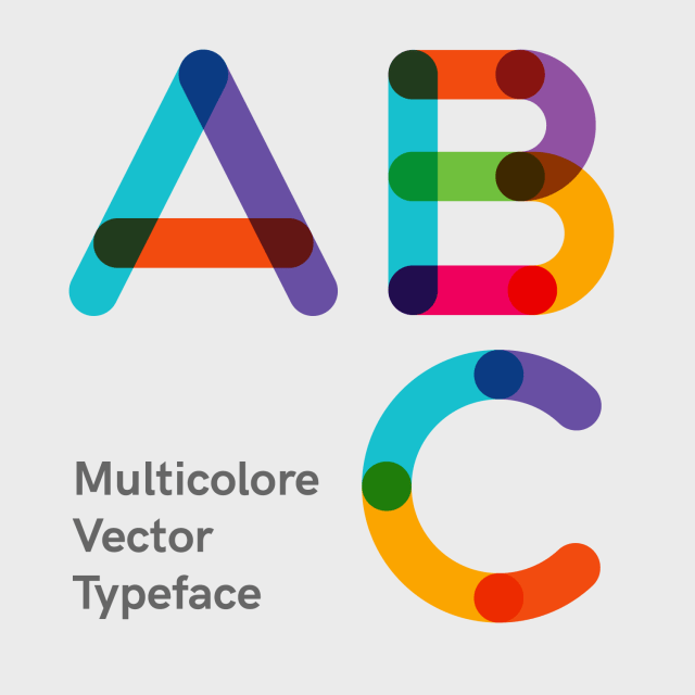 Multicolore SVG & Vector Typeface