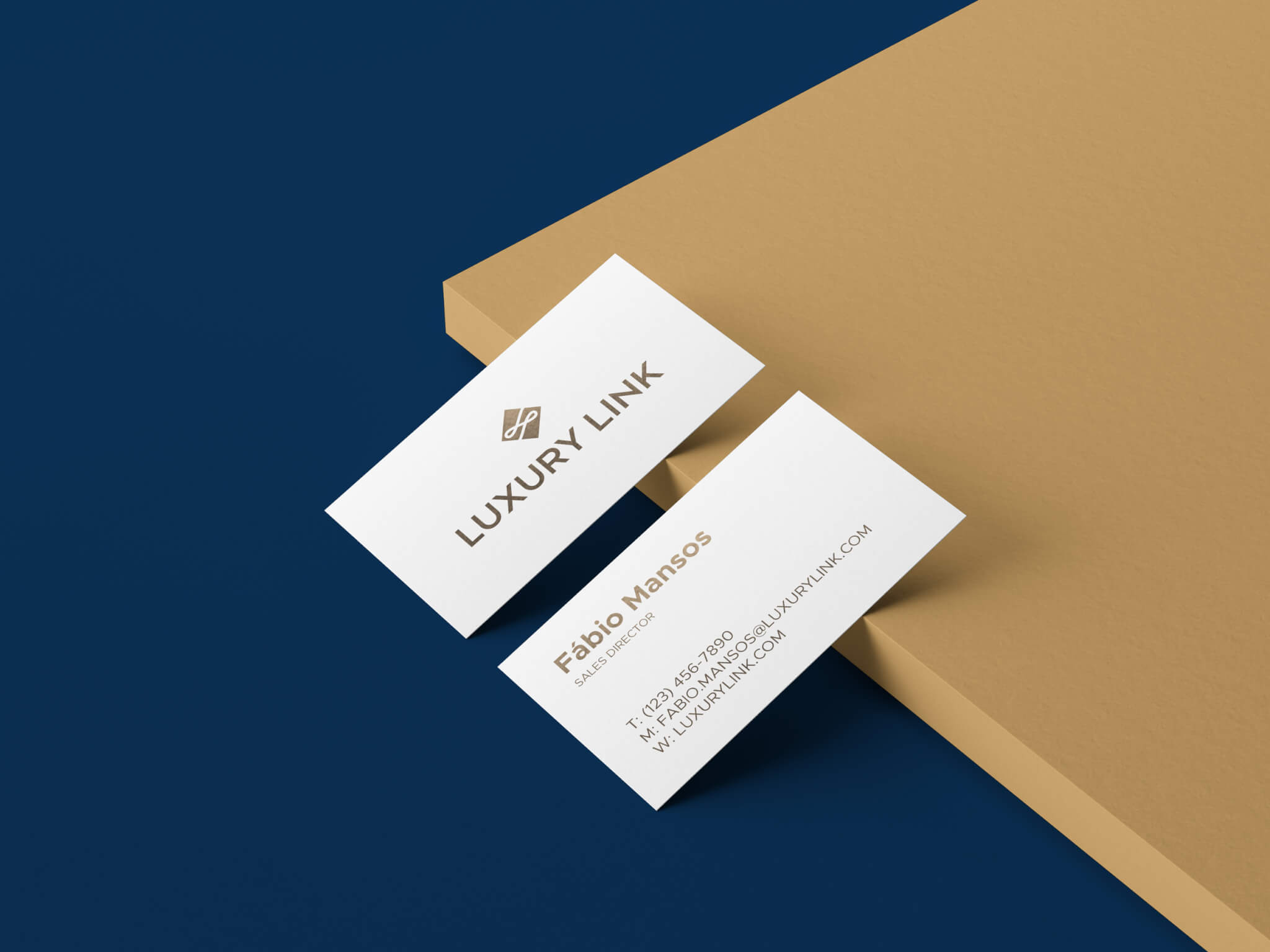 Luxury Link business cards