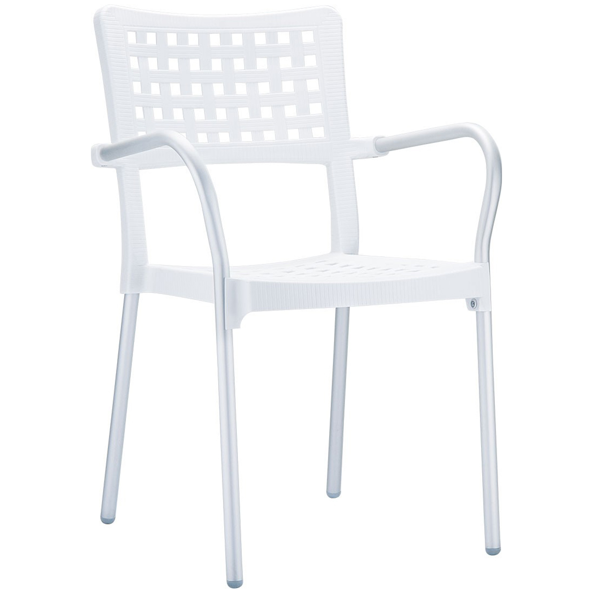 neo 200041e perforated plastic outdoor chair