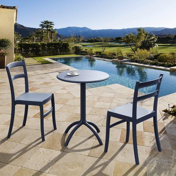 neo 200160e plastic garden round table