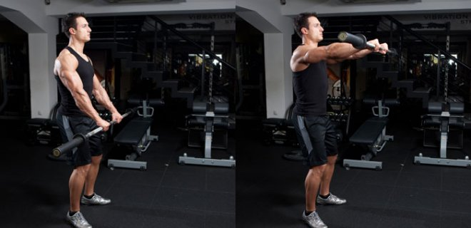 barbell front - Best Shoulder Muscle Exercises