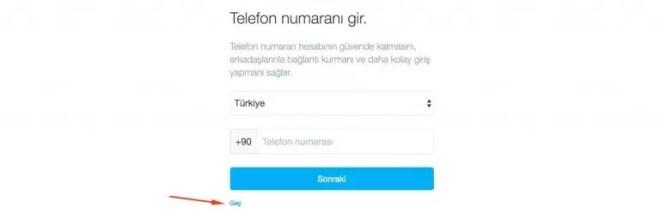 twitter telefon numarası ekleme
