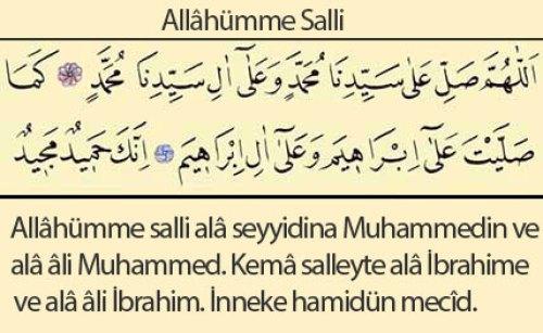 allahümme salli duası