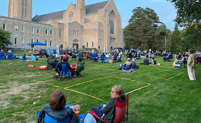 Socially distanced picnic concert in 2020
