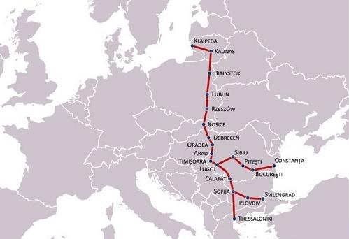 Mapa via carpatia