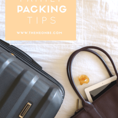 FAMILY ROAD TRIP- PACKING TIPS