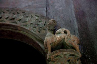 Inside Borgund Stave Church