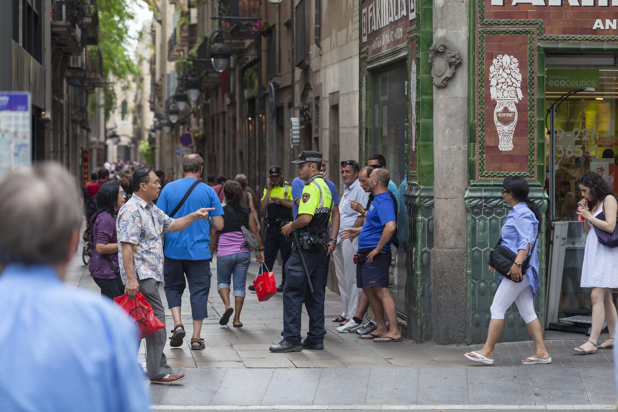 Barcelona, La Rambla, Corner