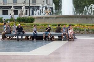 Plaça De Catalunya Fountain
