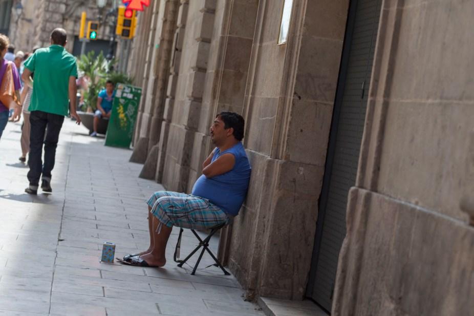 Barcelona Street Beggar