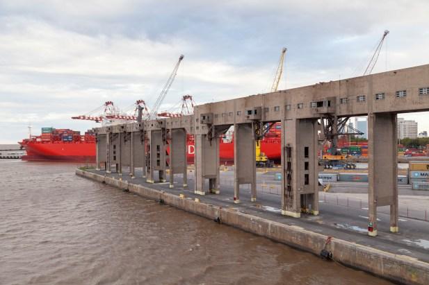 Brutalist Buenos Aires Port